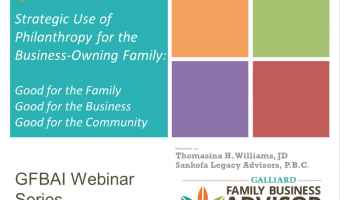Philanthropy and the Family Business