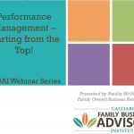 Performance Management: Starting from the Top!